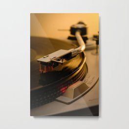 Vinyl is better Metal Print