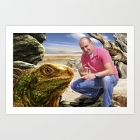 lizard Art Prints featuring Lizard by amanvel