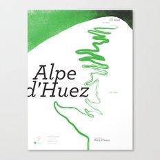 Famous Climbs: Alpe d'Huez 1, Modern Spring Canvas Print
