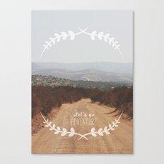 Let's go Adventure Canvas Print