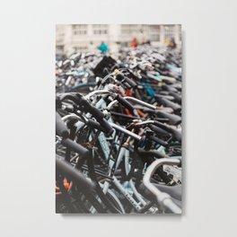 Bikes of Amsterdam Metal Print