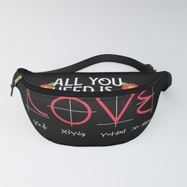 Funny Geek Nerd All You Need Is Love Fanny Pack