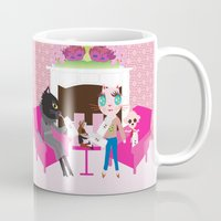 milk Mugs featuring Milk by FASHIONISTA CATS