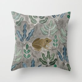 Save the frogs! Throw Pillow
