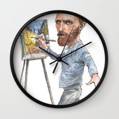 Van Gogh Paints Night Cafe Wall Clock