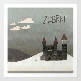 At the Castle - inspired by Zebrat Art Print