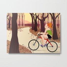 Bike Girl Metal Print