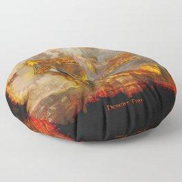 Desert Fire - Eye of Horus Floor Pillow