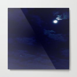 The night with a hazy moon Metal Print