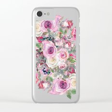 Bouquet of rose - wreath Clear iPhone Case
