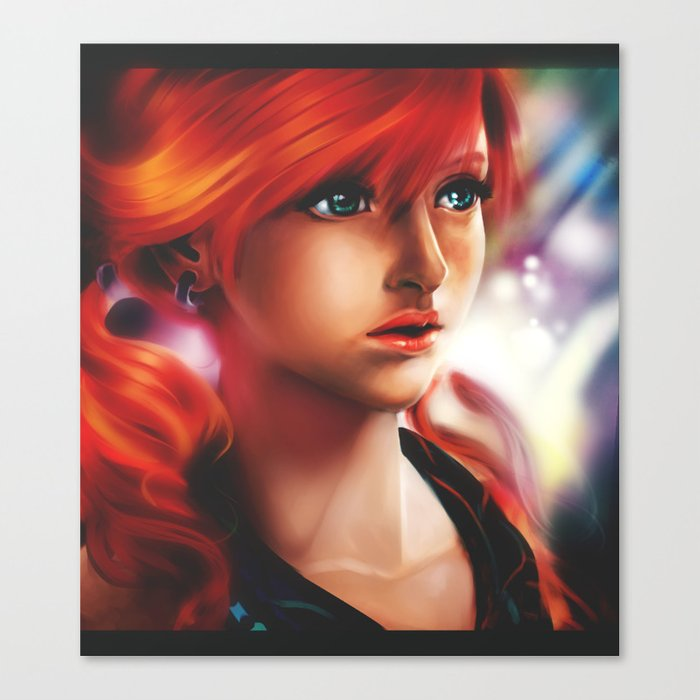 Vanille painting Canvas Print