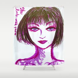 The Lady with thorn Shower Curtain