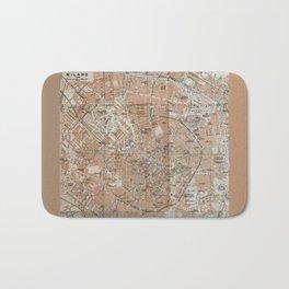 Milan, Italy / Milano, Italia antique map Bath Mat