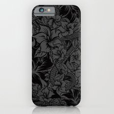 Snaky Fleur, Black and Grey Slim Case iPhone 6s