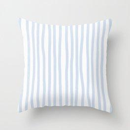 Light Blue Stripes Throw Pillow