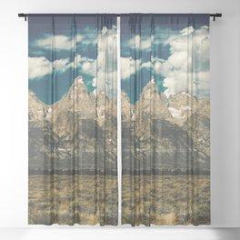 Mountain Summer Escape Sheer Curtain