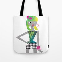 teen titans Tote Bags featuring Teen by Mrwilliam Draw