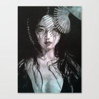 geisha Canvas Prints featuring Geisha by Mary Alice Art