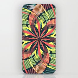 Red Yellow Blue Mandala Petals iPhone Skin