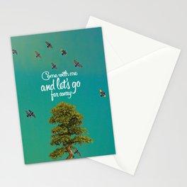 Far away (tree) Stationery Cards