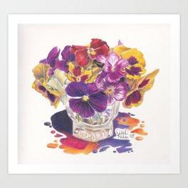 Pansy Color Splash Art Print