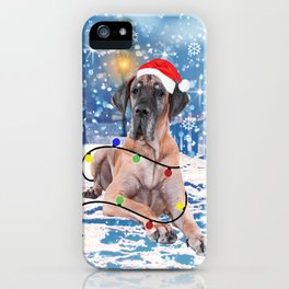Great Dane Holidays Christmas Snow iPhone Case