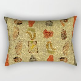 Foodie Gold Glitter Pattern Rectangular Pillow