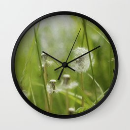 Three-Quarters of a Wish Left painterly Wall Clock