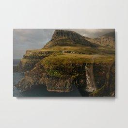Faroe Islands Falls Metal Print