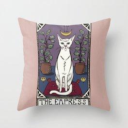 The Empress Tarot Cat Throw Pillow