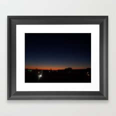 twilight star Framed Art Print