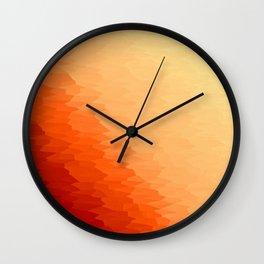 Orange Texture Ombre Wall Clock