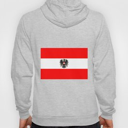 Austrian Flag and Coat of Arms Hoody