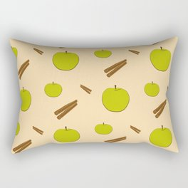 Sweet pattern with apple and cinnamon Rectangular Pillow