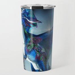 Cute Dragon in blue Travel Mug