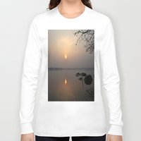 calm Long Sleeve T-shirts featuring calm by  Agostino Lo Coco