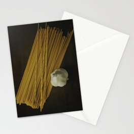 Pasta and Garlic Stationery Cards
