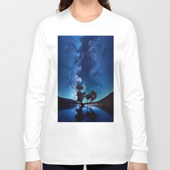 The World Above (Perfect Night Sky with Stars) Long Sleeve T-shirt