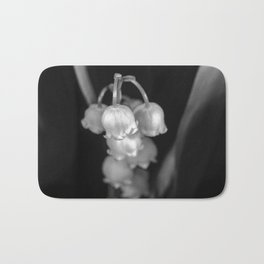 Black and white lily of the valley Bath Mat