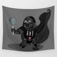 darth vader Wall Tapestries featuring Darth Vader by IrisBlue