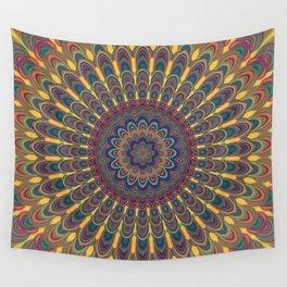 Bohemian oval mandala Wall Tapestry