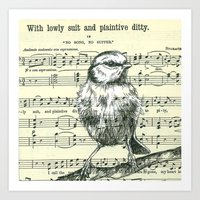Lowly Suit and Plaintive Ditty Art Print