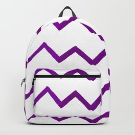 Hand painted purple white watercolor geometrical chevron Backpack