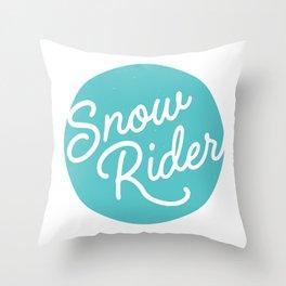 Snowrider Throw Pillow