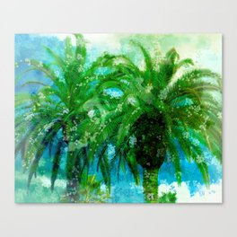Palm Trees In Art 2 Canvas Print