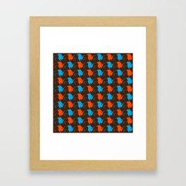 Orange Blue Buffalo Spirit Framed Art Print