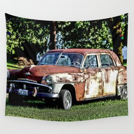 1952 Plymouth Cranbrook Seen Better Days Wall Tapestry