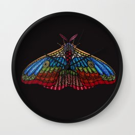 Shimmering Moth Wall Clock