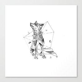 Geometric Season1:2 Fox Canvas Print