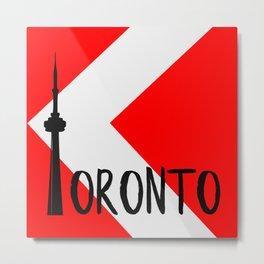 Toronto Red Metal Print